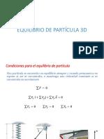 EQUILIBRIO DE PARTÍCULA 3D