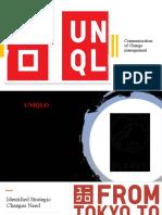 Communication of Change management UNIQLO