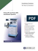 Penlon Prima SP Anesthesia Systems Brochure
