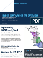 INVEST South/West RFP Overview 8/11/20