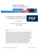 An Assessment of Biomass Feedstock and Conversion Research