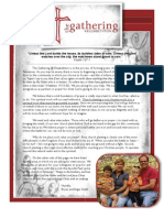 The Gathering Prayer Support Letters