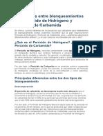 Diferencias entre Peróxido de Hidrógeno y Peróxido de Carbamida