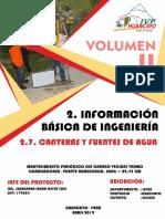 2.7. INFORME DE CANTERAS Y FUENTES DE AGUA