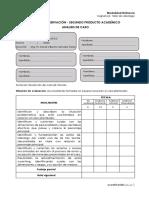 Ficha de Evaluación Segundo Producto Taller de Liderazgo 2020 Distancia