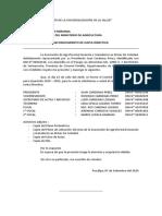 SOLICITA RECONOCIMIENTO DE JUNTA DIRECTIVA  2020