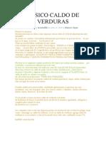 BÁSICO CALDO DE VERDURAS