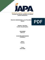 Derecho Administrativo y sus Procedimientos  - Roberto - Tarea II -24-07-2020