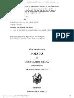 Impresiones, Poesías José Campo-Arana_
