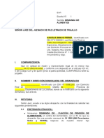 DEMANDA DE ALIMENTOS - MODELO UNICO