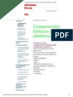 Componentes bióticos y abióticos - Ecosistemas acuáticos y sus efectos.pdf
