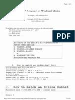 Cisco IP Access-List Wildcard Mask