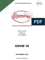 PROTOCOLOS DE BIOSEGURIDAD COVID DESMADRE 2020 V1
