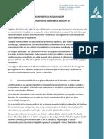 Plan de Accion  COVID-19