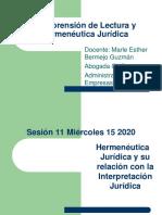 Hermeneutica y relacion con la Interpretacion Juridica