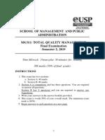 MG311 Exam