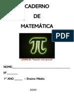 CADERNO DE MATEMÁTICA - 1 ANO - 1 BIMESTRE