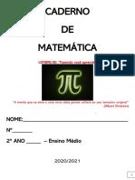 CADERNO DE MATEMÁTICA - 1 BIMESTRE - 2 ANO