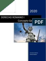 DERECHO ROMANO I- conceptos generales
