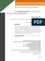 Artigo - Mulheres e Criminalidade