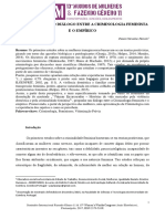 Artigo - O NECESSARIO DIALOGO ENTRE A CRIMINOLOGIA FEMINISTA E O EMPIRICO