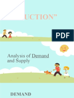 Analysis of Demand and Supply