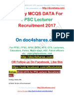 Biology MCQS DATA For PPSC Lecturer Recruitment 2017