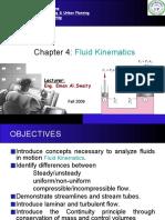 Chapter 4 - Fluid Kinematics