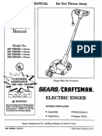 Craftsman Edger Models 257 & 358