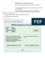 Manual Reset Epson L355