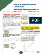 SEMANA 10-1ERO y 2D -MAGNITUDES PROPORCIONALES