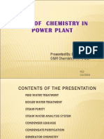 Role of Chemistry in Power Plant
