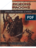 Dark Sun Creature Catalog