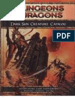 Dark Sun Creature Catalog