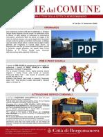 Notizie Dal Comune di Borgomanero dell'11-09-2020