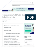 Free Essay_ Globalisation Would Finish Small Scale Industries in India