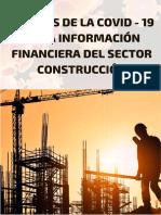 EFECTOS DE LA COVID-19 EN LA INFORMACION FINANCIERA EN EL SECTOR CONSTRUCCION