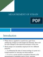 Measurement of strain