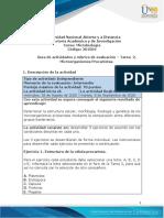 Guía de actividades y Rúbrica de evaluación - Unidad 1 - Tarea 2 - Microorganismos Procariotas
