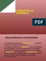 REGLA BÁSICAS DE LAS SOCIEDADES