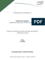 Unidad 2. Gestion de Aplicaciones, Recursos y Comunicaciones