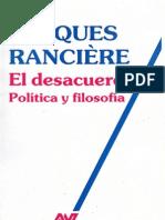 Ranciere,Jacques El Desacuerdo