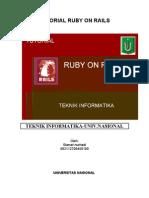 Tutorial Ruby on Rails Bagian 2