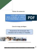 LES MECANISMES DOUANIERS AU SERVICE DE L'ENTREPRISE ALGERIENNE
