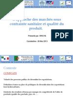 Module 09 Cas de Synthèse (L'approche des marchés sous contrainte sanitaire et qualité du produit)