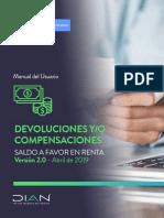 Devoluciones y o Compensaciones-Saldo a Favor en Renta-V. I