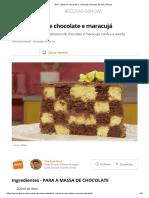 Bolo Xadrez de chocolate e maracujá _ Receitas Gshow _ Gshow