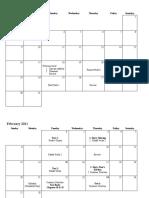Calendar - English Comp I (EFL)
