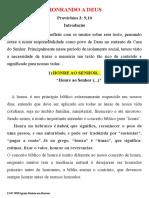 15.07.2020 - HONRANDO A DEUS