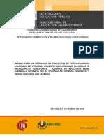 Manual para la operación Fortalecimiento Académico